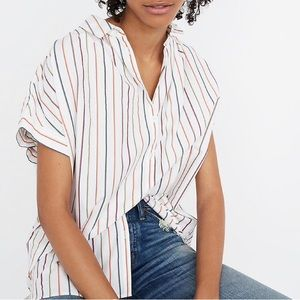 Madewell buttoned down blouse sz:M striped color